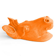 The Myra in Tangerine - Mini Zebra Head | Modern African Safari Decor