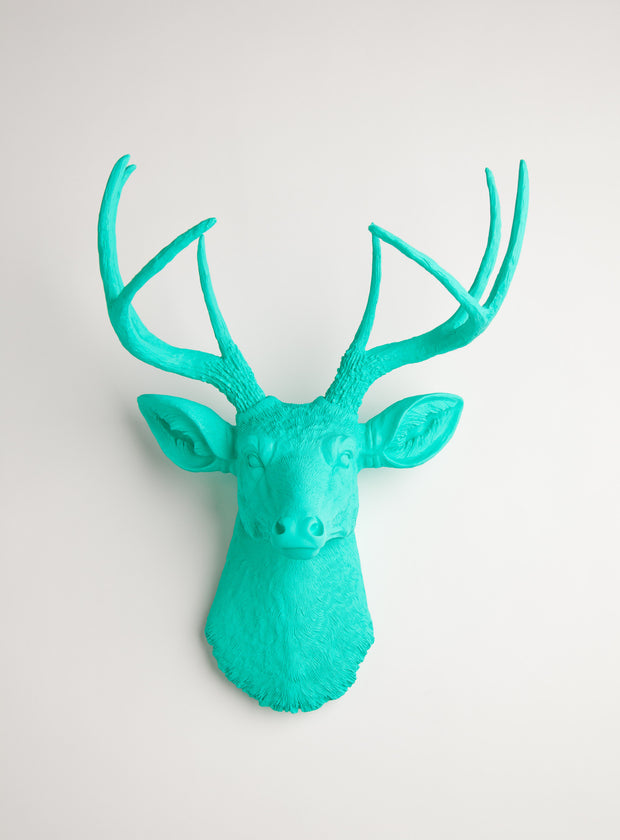 Turquoise wall decor deer, The Penelope