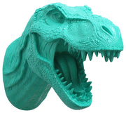 turquoise t rex dinosaur head trophy wall mount