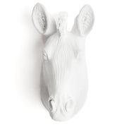 The Myra - White Mini Zebra Head | Modern African Safari Decor