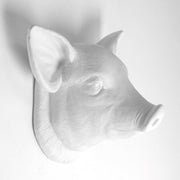 The Hamlet in White | Modern Farmhouse Home Decor, Faux Pig Head Wall Mount