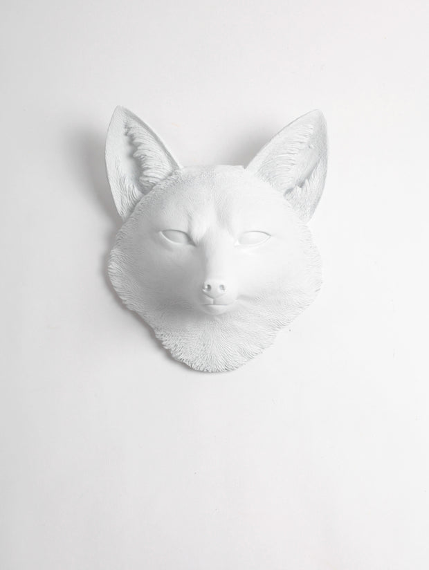 White Fox Wall Decor Sculpture