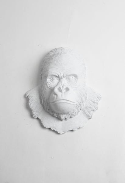 White Gorilla Wall Mount