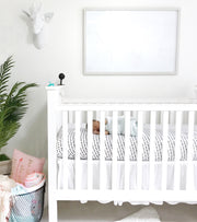 White Giraffe Head Wall Mount in White Nursery Decorations. Instagram 2017 (C) by @WhitneyPrior
