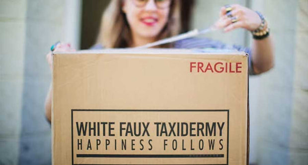 White Faux Taxidermy Gift Card