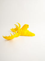 The Egberton | Moose Head | Faux Taxidermy | Yellow Resin