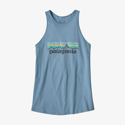 Patagonia Women's Pastel P-6 Logo Organic Cotton High Neck Tank Top