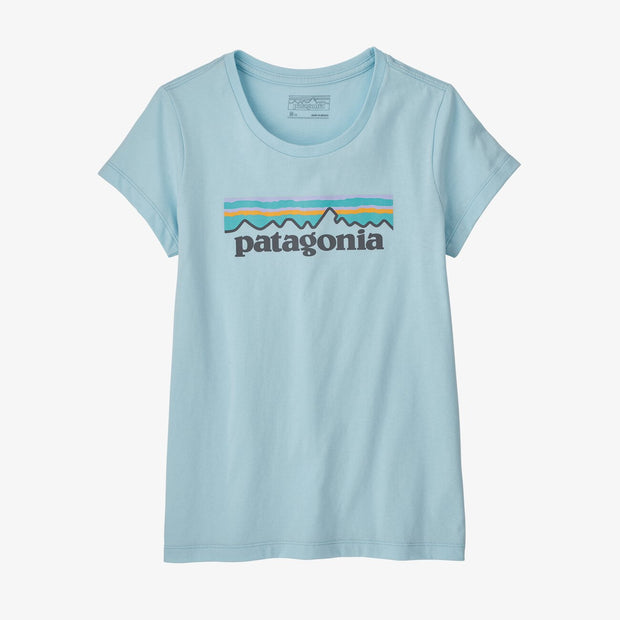 Patagonia Girls' Pastel P-6 Logo Organic Cotton T-Shirt