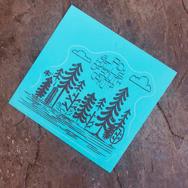Black Hills Distressed Forest Sticker