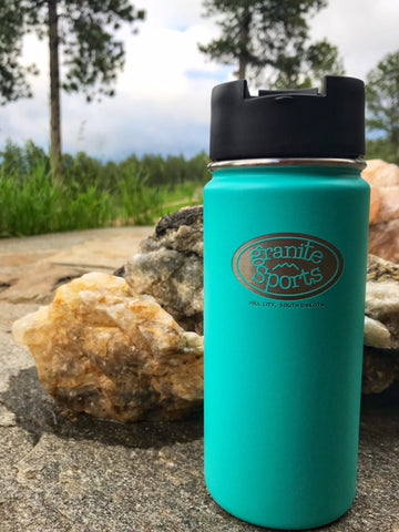 Hydro Flask Wide Mouth 16oz Coffee Flask with Granite Sports Logo