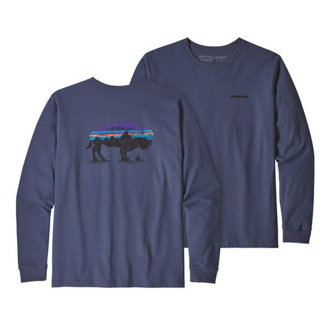 Patagonia Men's Long-Sleeved Fitz Roy Bison Responsibili-Tee