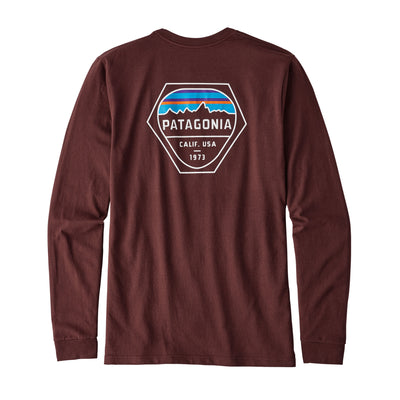 Patagonia Men's Long-Sleeved Fitz Roy Hex Cotton/Poly Responsibili-Tee