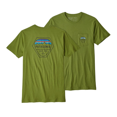Patagonia Men's Fitz Roy Hex Organic Pocket T-Shirt