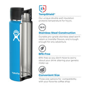 Hydro Flask Wide Mouth 12oz Coffee Flask w/ Flip Lid
