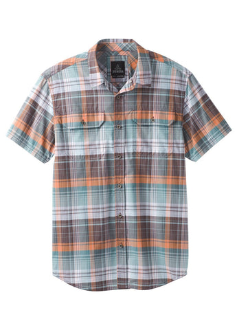 prAna Men's Cayman Plaid Short-Sleeved Shirt
