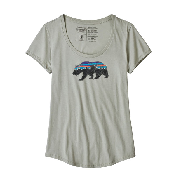 Patagonia Women's Fitz Roy Bear Organic Scoop T-Shirt