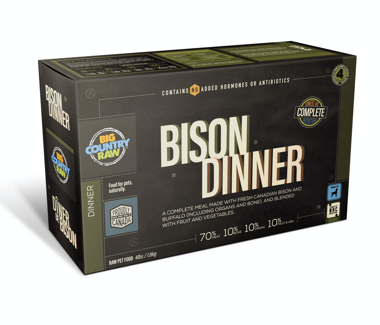 BISON DINNER CARTON – 4 LB
