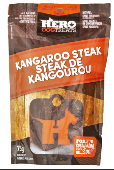 Dehydrated Kangaroo Steak - 75g