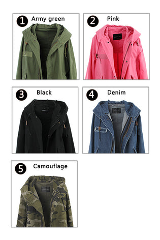 Mix & Match Parka Mix & Match Long Parka - Luxus-Mix & Match Long Parka- onlyours.de