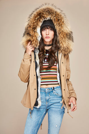Mix & Match Short Parka - Premium-Mix & Match Short Parka- onlyours.de