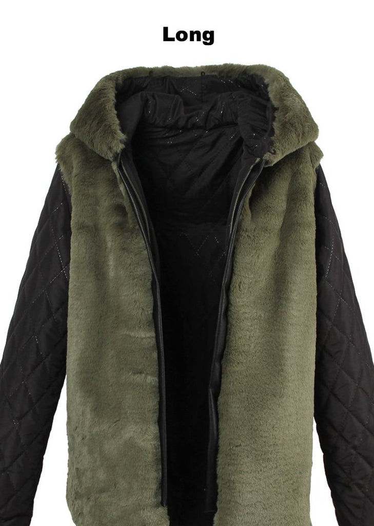 Mix & Match Parka Inner Lining - Long - Faux Fur-Innerlining- onlyours.de