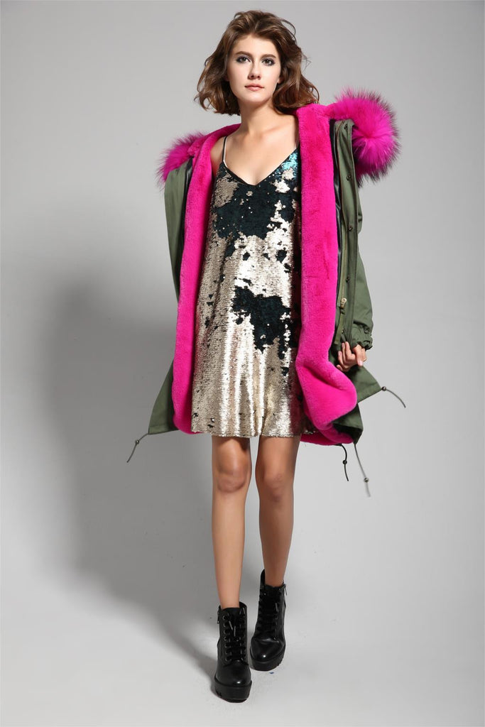 Mix & Match Parka Mix & Match Long Parka - Faux Fur-Mix & Match Long Parka- onlyours.de