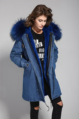 Mix & Match Long Parka - Faux Fur-Mix & Match Long Parka- onlyours.de