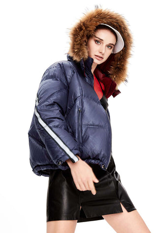 HARPER | Oversized Down Bomber with removable Collar-Bomberjacket- onlyours.de