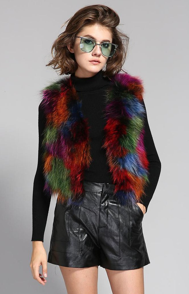 Mix & Match Parka Short Real Fur Vest-Vest- onlyours.de