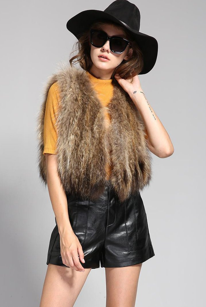 Mix & Match Parka Short Real Fur Vest-Vest- onlyours.de (1)