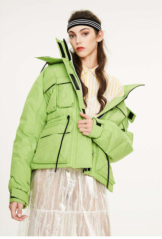 Oversized Down Jacket Neon