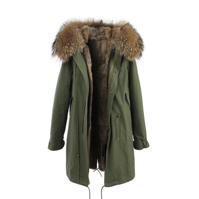 Mix & Match Long Parka - Premium-Mix & Match Long Parka- onlyours.de
