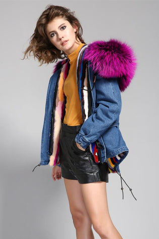 Mix & Match Short Parka - Luxus-Mix & Match Short Parka- onlyours.de