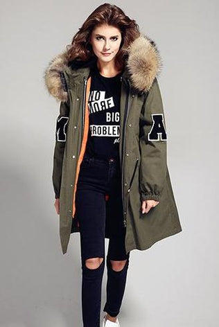 College Parka with XXL Collar