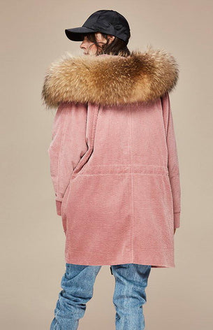 Mix & Match Parka Mix & Match Oversized Cord Parka-- onlyours.de