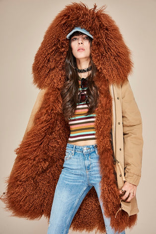 Mix & Match Long Mongolian Sheep Fur Parka-Mix & Match Long Parka- onlyours.de