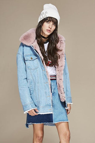 Mix & Match Parka Denim Jacket-Mix & Match Short Parka- onlyours.de