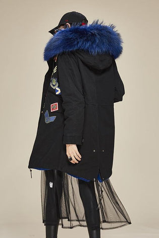 Mix & Match Long With Batches-Mix & Match Long Parka- onlyours.de