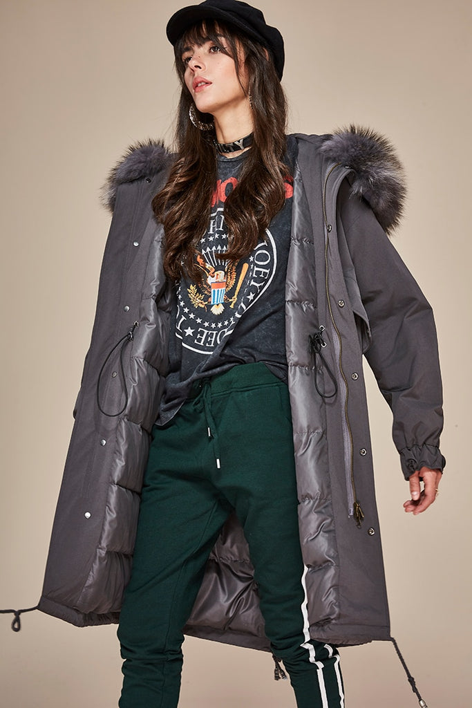 Mix & Match Parka Mix & Match Oversized Waterproof Parka-Mix & Match Long Parka- onlyours.de