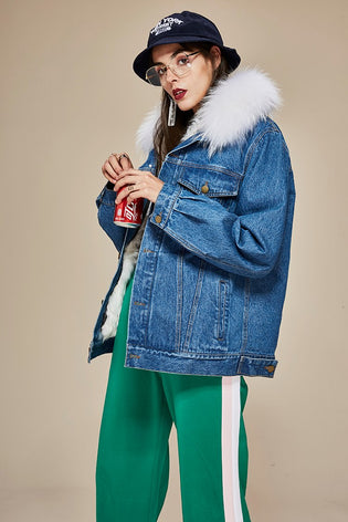 Mix & Match Parka Denim & Fur Jacket-Vest- onlyours.de
