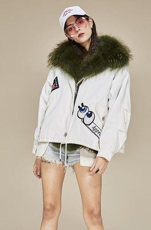 Mix & Match Parka Mix & Match White Denim Parka-Mix & Match Short Parka- onlyours.de