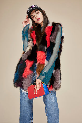 Mix & Match Parka Multicolor Fox Vest-Vest- onlyours.de