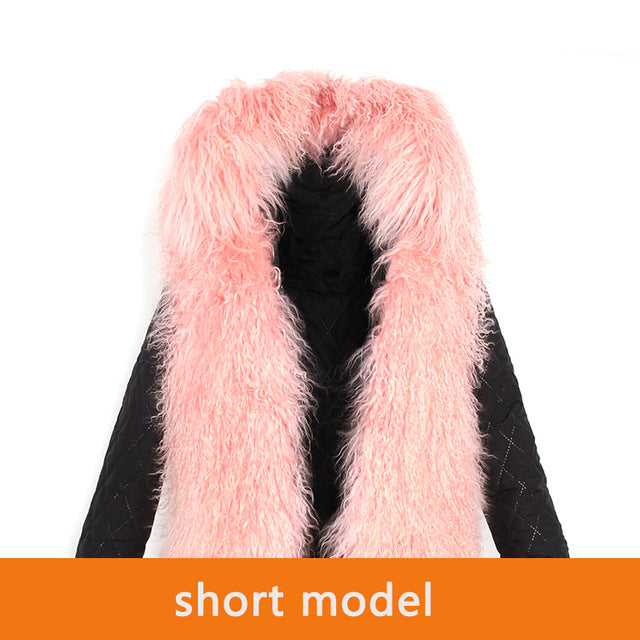 Mix & Match Parka Inner Lining - Short - Mongolia Sheep Fur-Innerlining- onlyours.de