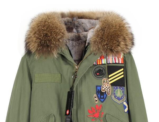 Mix & Match Parka Mix & Match Long With Batches-Mix & Match Long Parka- onlyours.de