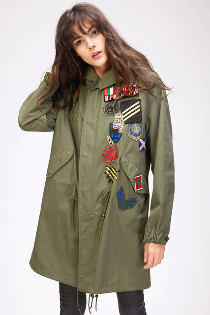 Mix & Match Parka Trench Coat - Long-Mix & Match Long Parka- onlyours.de