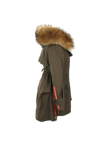 Mix & Match Parka Faux Fur Parka with Down Lining-Faux Fur- onlyours.de