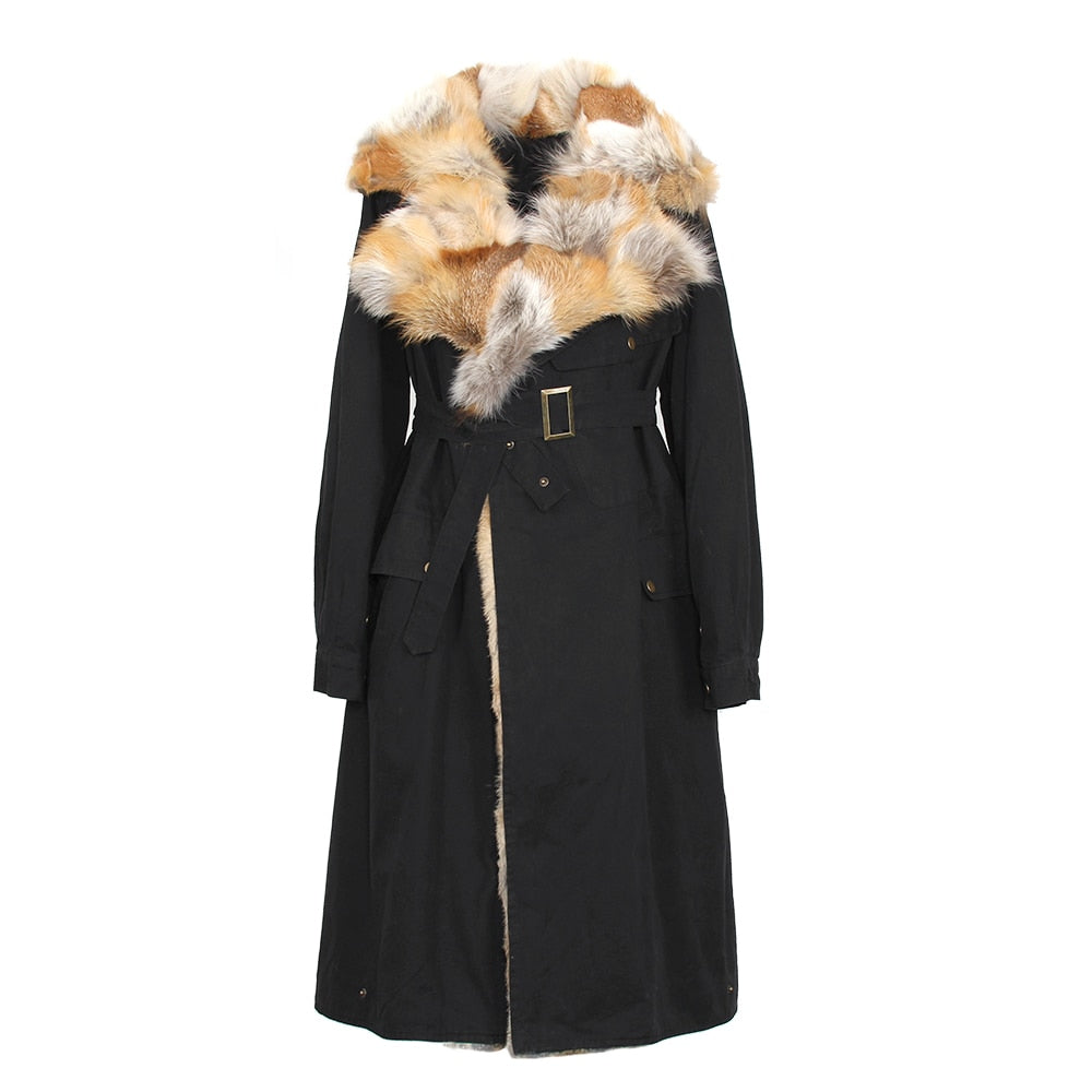 Mix & Match Parka Detachable Fox Fur Front Parka-Parka- onlyours.de