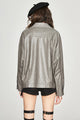 Mix & Match Parka Washed Midi PU Leather Jacket-Jacket- onlyours.de