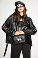 Mix & Match Parka Biker Leather Jacket-Leather Jacket- onlyours.de