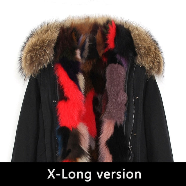 Mix & Match Parka Mix & Match Long Luxury Parka-Mix & Match Long Parka- onlyours.de
